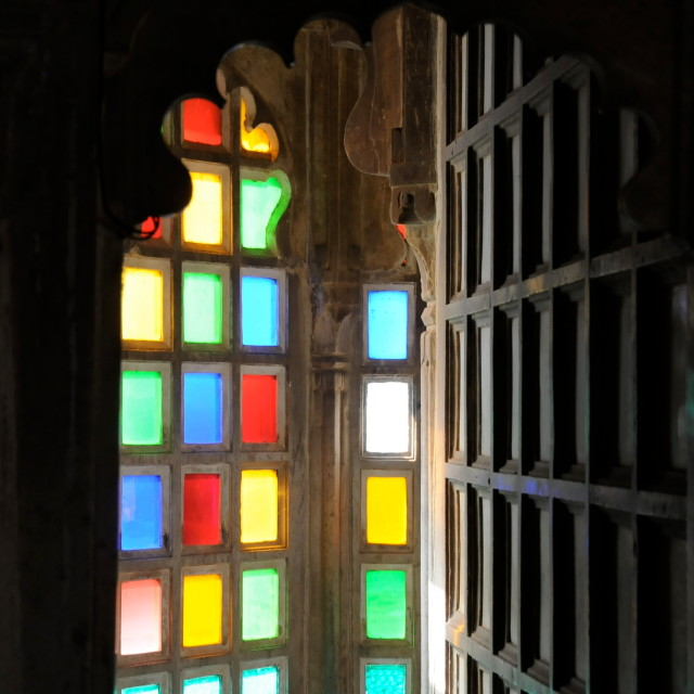 """Udaipur Palace Stained Glass"" stock image"