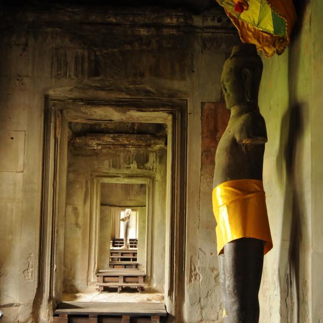 """Angkor Wat Statue"" stock image"