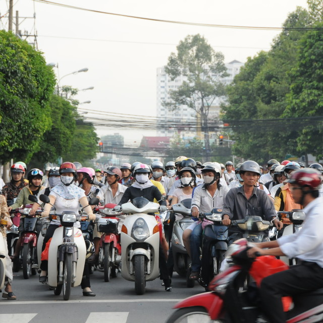 """Traffic in Ho Chi Minh"" stock image"