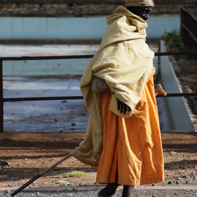 """Old lady in Ethiopia"" stock image"