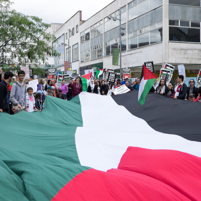 """Palestine Solidarity Campaign,Sheffield ."" stock image"