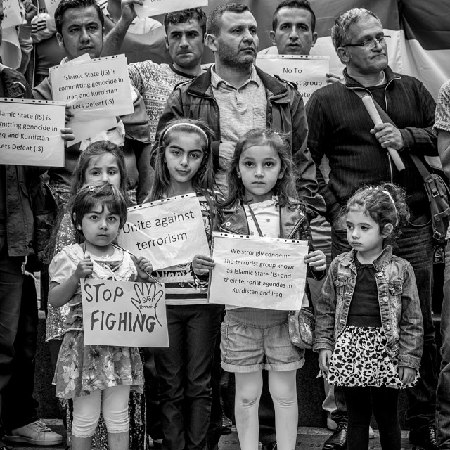 """Kurdish Community Protest,Nottingham."" stock image"
