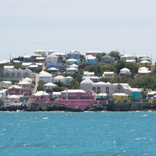 """Bermuda pastels"" stock image"