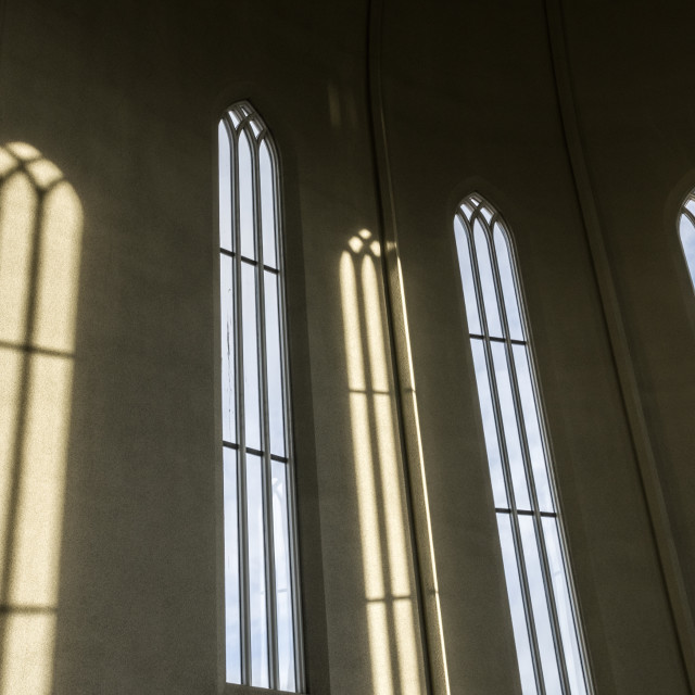 """Hallgrimskirkja windows"" stock image"