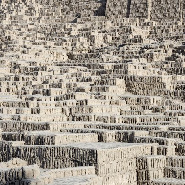 """Huaca Pucllana mud bricks"" stock image"
