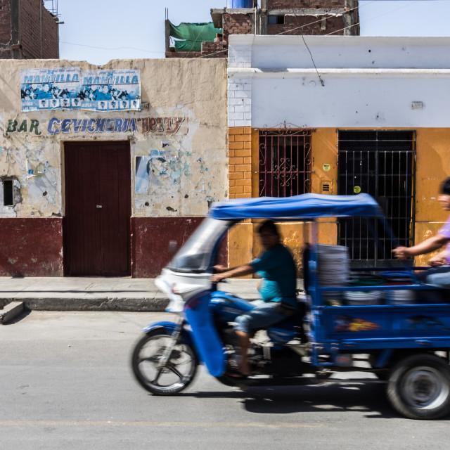 """Peruvian rickshaw"" stock image"