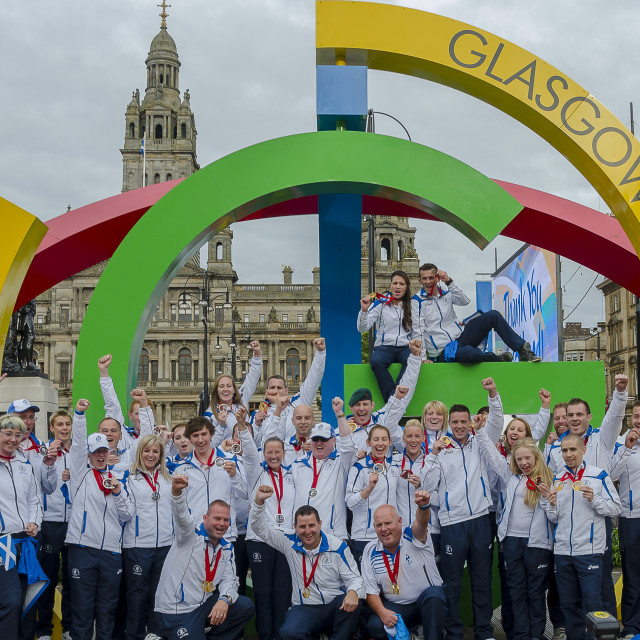 """Proud Medalists"" stock image"