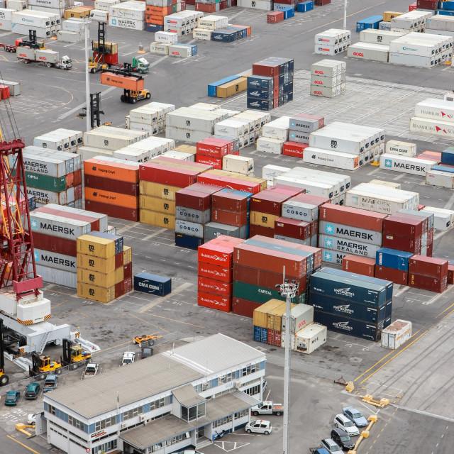 """Port of Napier"" stock image"