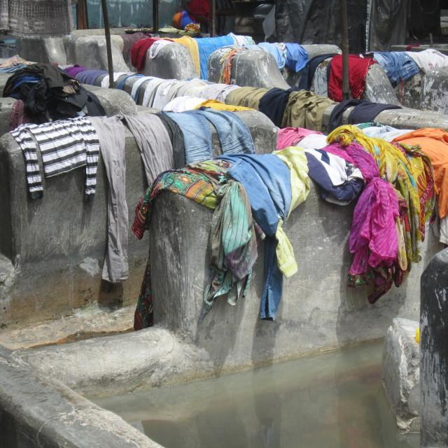"""""""Laundry, Dhobi Ghat"""" stock image"""