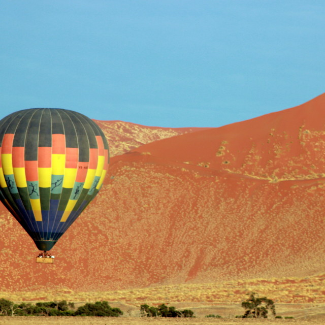 """Ballooning in Sossusvlei"" stock image"