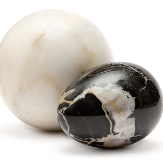 """Two Marble Balls"" stock image"