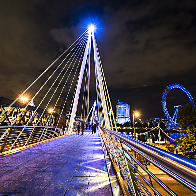 """Hungerford Bridge"" stock image"