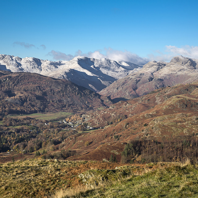 """Looking Down On The Langdale Valley In The English Lake District"" stock image"