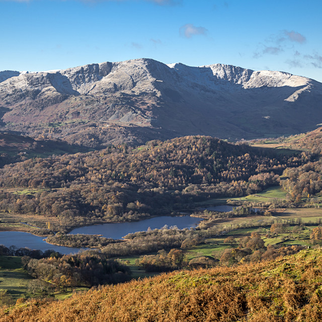 """""""Looking Down On The Langdale Valley In The English Lake District"""" stock image"""