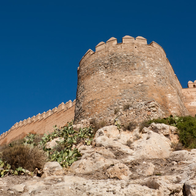 """Alcazaba of Almeria, Spain"" stock image"