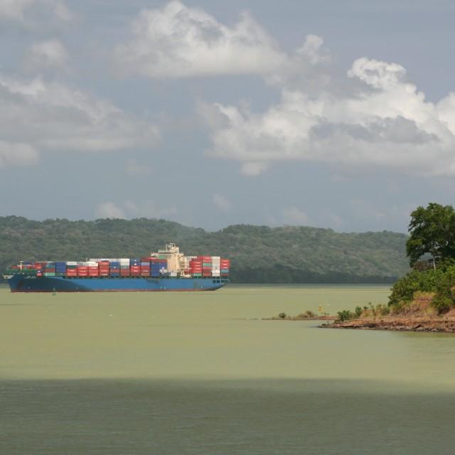 """Panama Canal vista"" stock image"