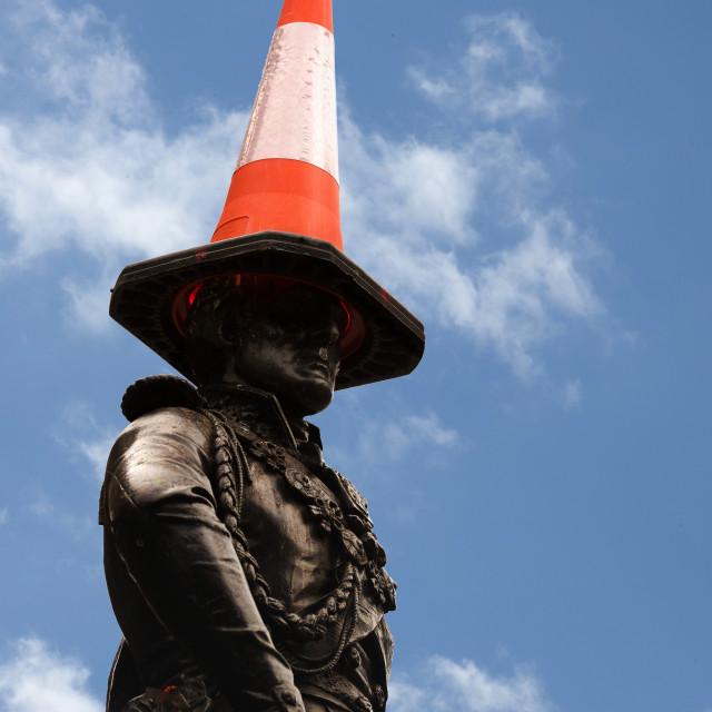 """Duke of Wellington Statue, Glasgow"" stock image"