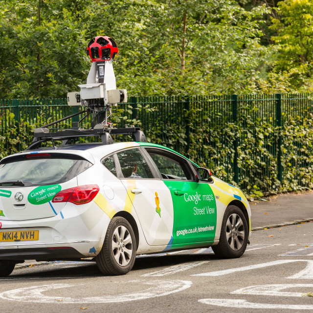 """Google Street view Car"" stock image"