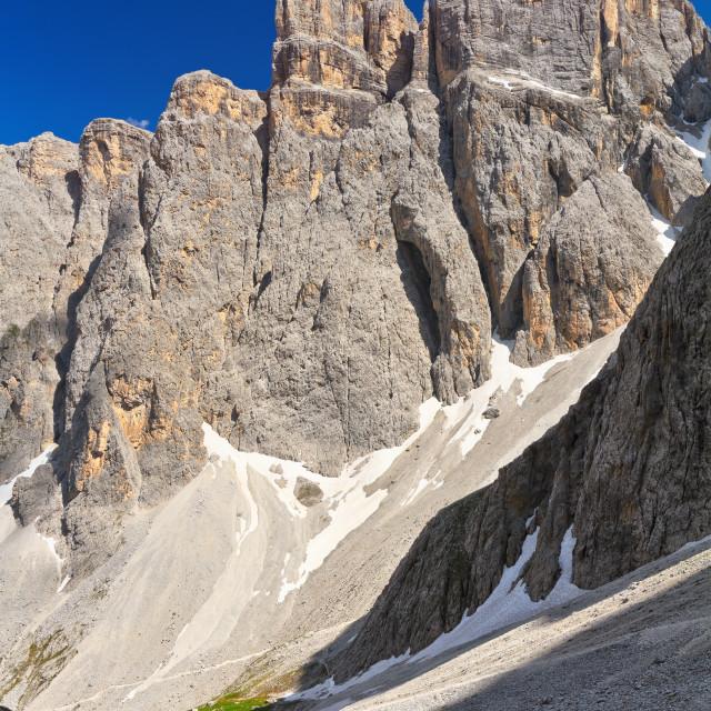 """Dolomiti - Piz da Lech mount"" stock image"