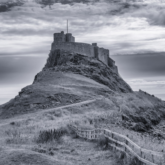 """""""The Castle Holy Island"""" stock image"""
