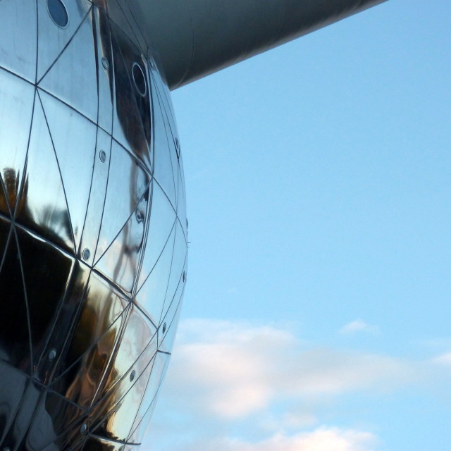 """""""Late afternoon atomium"""" stock image"""