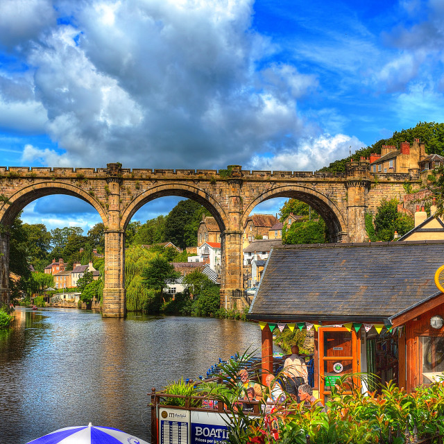 """Knaresbrough Bridge"" stock image"