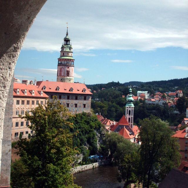 """""""Cesky Krumlov castle"""" stock image"""
