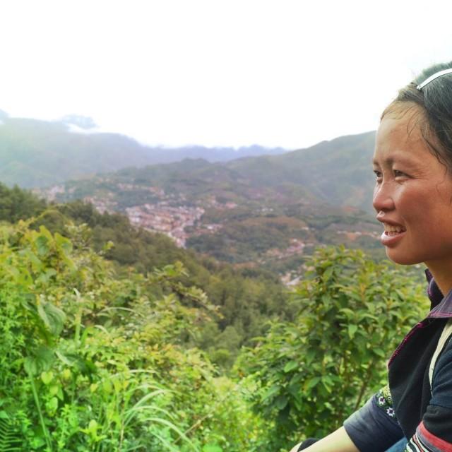 """Zu, Sapa mountains lady"" stock image"