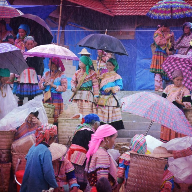 """Sapa Market Ladies"" stock image"