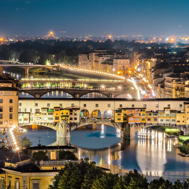 """""""Ponte Vecchio, Florence, Tuscany"""" stock image"""