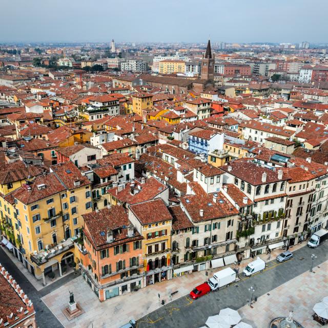 """""""Verona cityscape, Italy"""" stock image"""