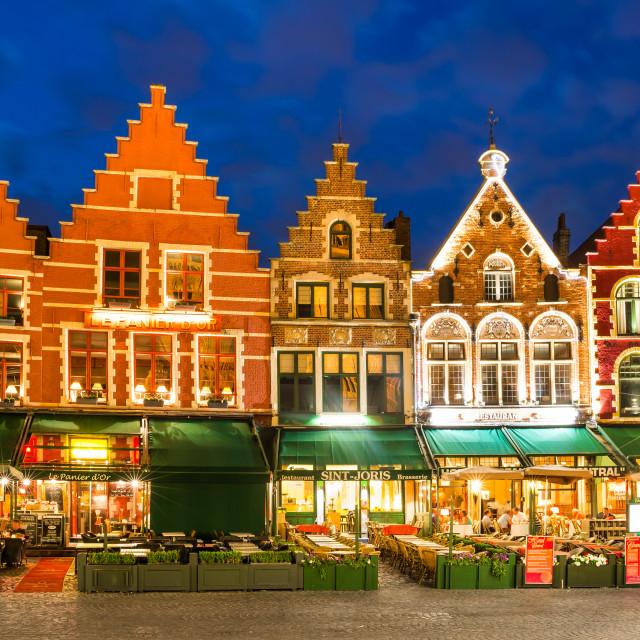 """""""Market Square, Bruges"""" stock image"""
