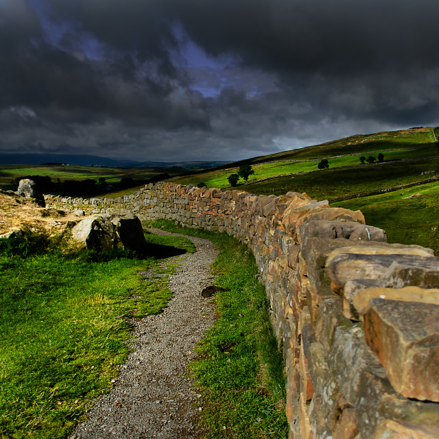 """Hadrians Wall"" stock image"