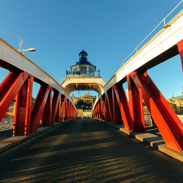 """""""The Swing Bridge"""" stock image"""