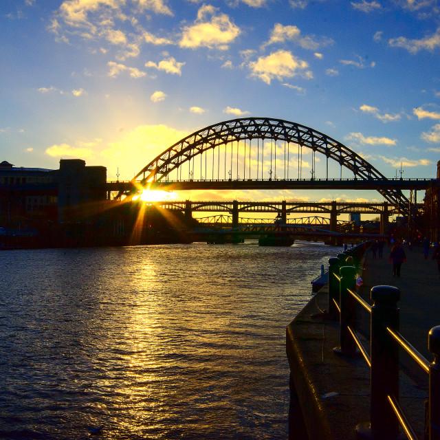 """Tyne Bridge Sunset"" stock image"