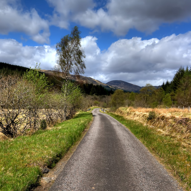 """Glen Orchy"" stock image"