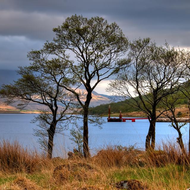 """Loch Etive"" stock image"