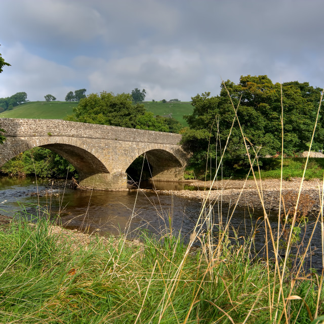 """Bridge Over The River Swale"" stock image"
