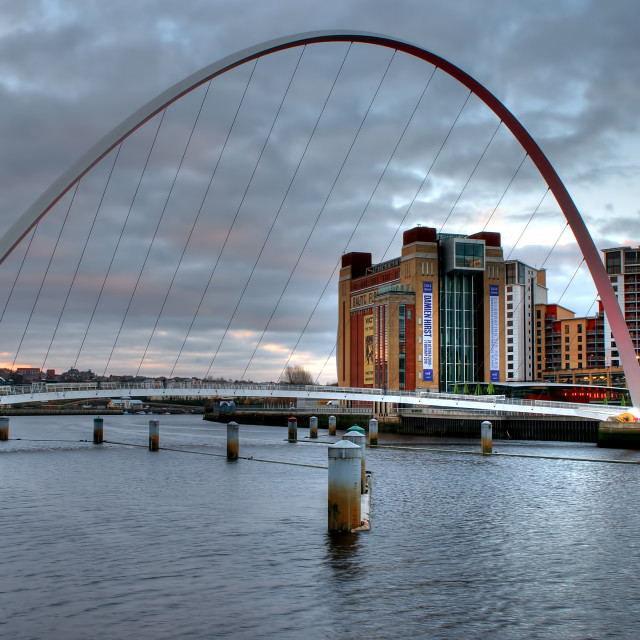 """The Millennium Bridge"" stock image"