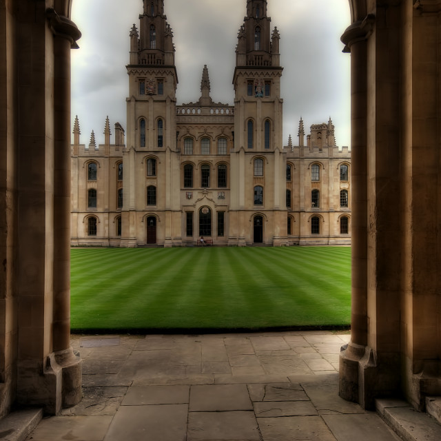 """Christ Church College, Oxford"" stock image"
