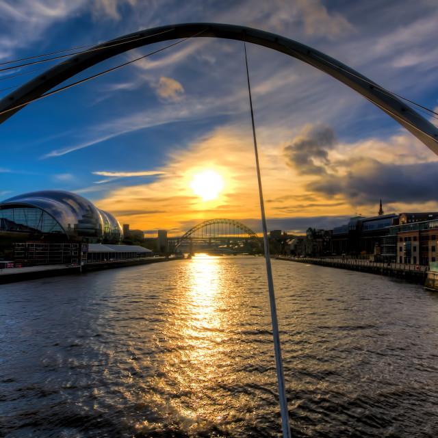 """""""Newcastle Sunset"""" stock image"""