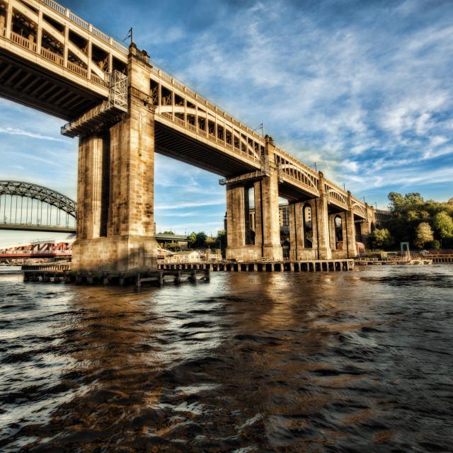 """High Level Bridge"" stock image"