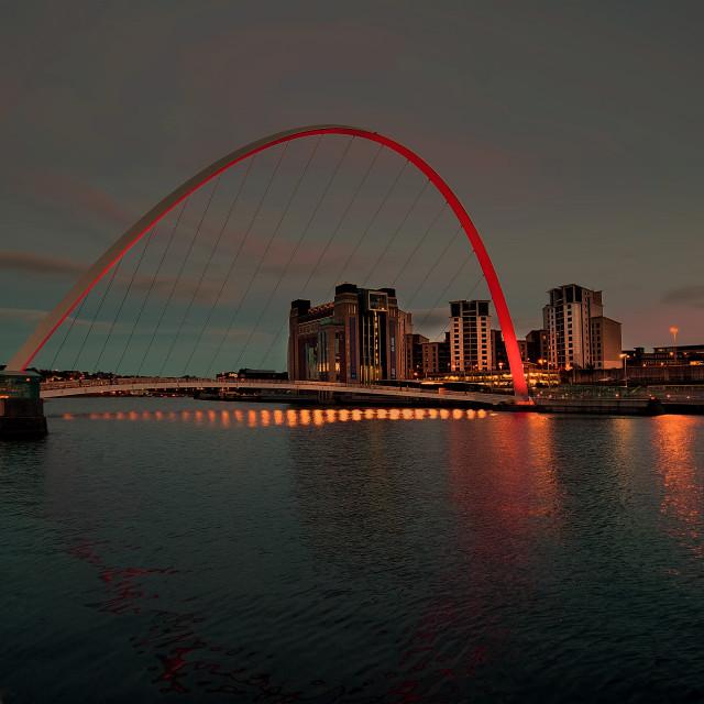 """""""Gateshead Millennium Bridge"""" stock image"""