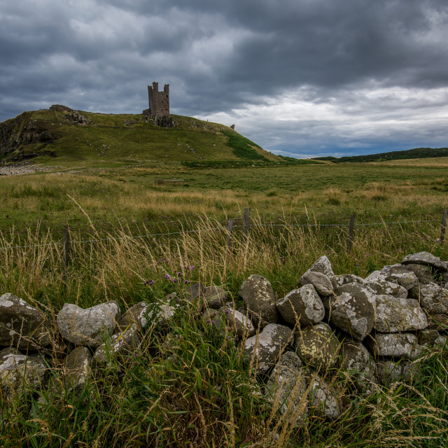 """Dunstanburgh Castle"" stock image"