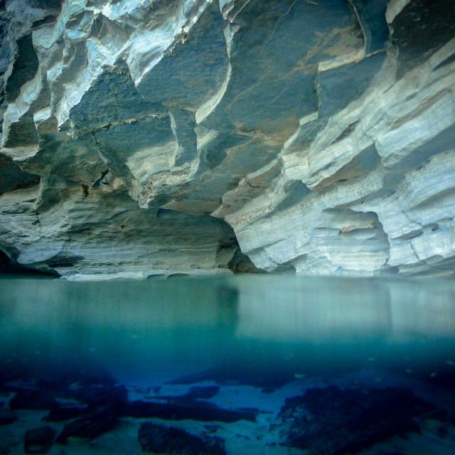 """Hidden caves"" stock image"