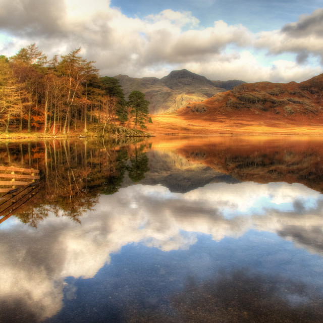 """Blea Tarn, Lake District"" stock image"