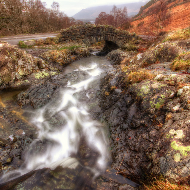 """Ashness Bridge, Lake District"" stock image"