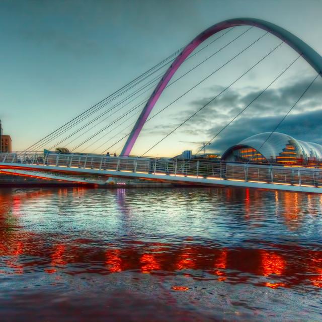 """""""Millennium Bridge"""" stock image"""