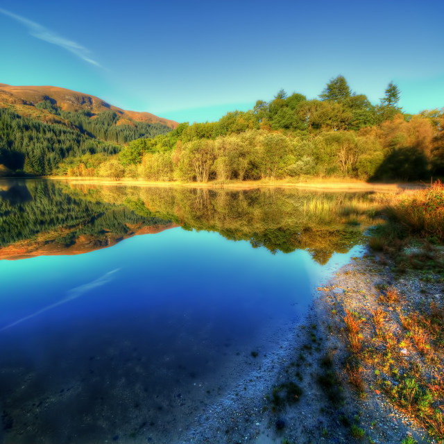 """Loch Chon"" stock image"