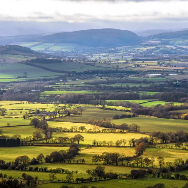 """Shropshire hills"" stock image"
